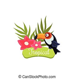 Tropical Vacation. Vector Illustration - Tropical Vacation....