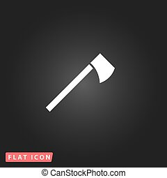 tomahawk flat icon - Tomahawk. White flat simple vector icon...