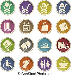 Shopping web icons - Label icons for web sites and user...