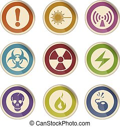 Hazard Sign Icons - Label icons for web sites and user...