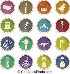 Memorial day simply icons - Label icons for web sites and...