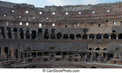 quot;inside of Colosseum, rome, italy, timelapse, 4kquot; -...