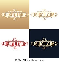 Golden congratulations card
