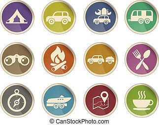 Tourism and Travel Icons - Label icons for web sites and...