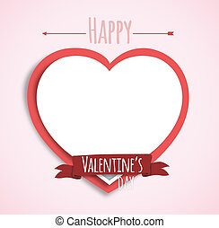 Valentine's Day Card with space for