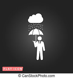 businessman with umbrella protect from rain