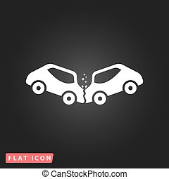 car crash and accidents icon - Car crash and accidents....