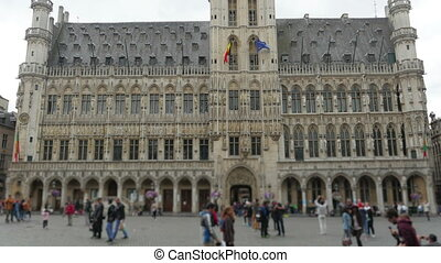 """Grand place, brussels old city square, timelapse, zoom in,..."