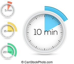 Collection of timers Vector illustration