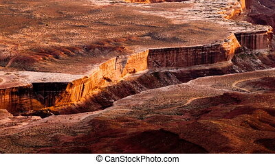 Sunset Soda Springs Basin Green River Canyonlands National...
