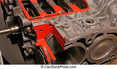 Car boxer opposite engine motor in motion - Car boxer...