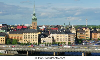 quot;Stockholm view, sweden, timelapse, zoom in, 4kquot; -...