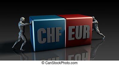 CHF EUR Currency Pair or Swiss Franc vs European Euro
