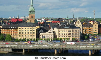 quot;Stockholm view, sweden, timelapse, zoom out, 4kquot; -...