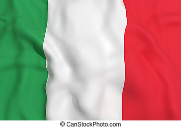 Italy flag - 3d rendering of a Italy flag waving