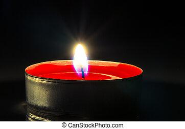 burning candle - red burning candle image background