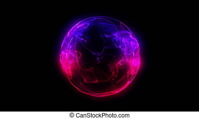 sphere 3d flame ball 4k