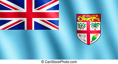 Flag of Fiji waving in the wind giving an undulating texture...