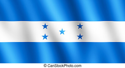 Flag of Honduras waving in the wind giving an undulating...