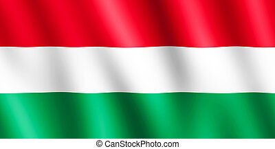 Flag of Hungary waving in the wind