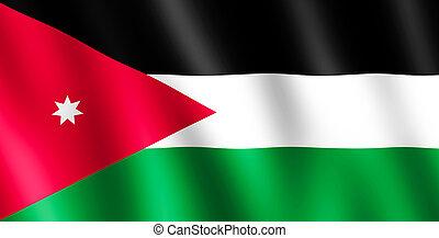 Flag of Jordan waving in the wind