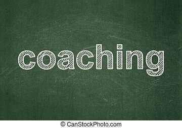 Education concept: Coaching on chalkboard background