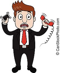 Businessman busy contact