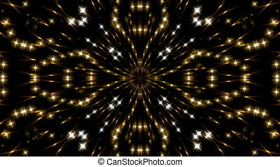 gold kaleidoscope light, loop - gold kaleidoscope light and...