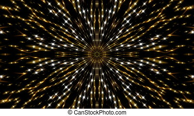 gold kaleidoscope light, loop