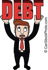 Business man debt
