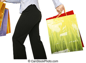 Running With Shopping Bags