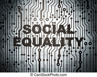 Political concept: circuit board with Social Equality