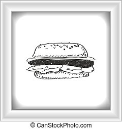 Simple doodle of a burger
