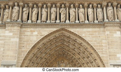 quot;notre dame de paris cathedral, france, timelapse, zoom...