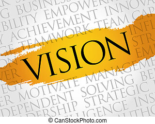 Vision word cloud, business concept