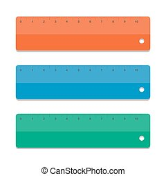 Set rulers. Vector illustration