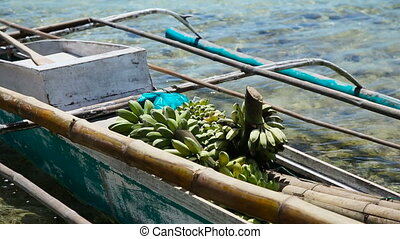 Bananas in the boat
