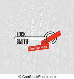 "Locksmith vector logo, icon. ""Locksmith"" word is a part of..."