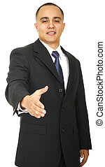 Business Man Offering Handshake - a business man offering...