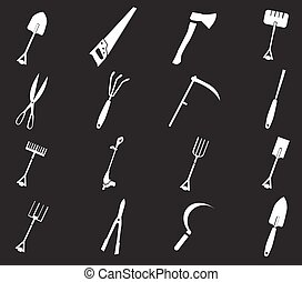 Gardening tools collection - Gardening tools simply icons...
