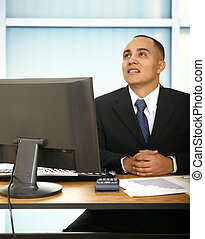 Financial Advisor In His Office