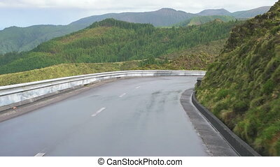 A Ride to Volcanic Creek on Azores Island