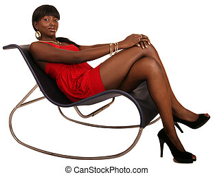 Contemporary Fancy Lazy Chair - beautiful african american...