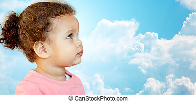 beautiful little baby girl portrait - childhood and people...
