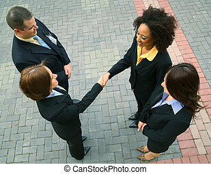 Business Deal With Diversity Group - group of diversity...