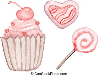 Watercolor sweets