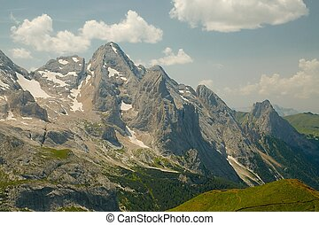 Dolomites - High mountain cliffs in the Dolomites