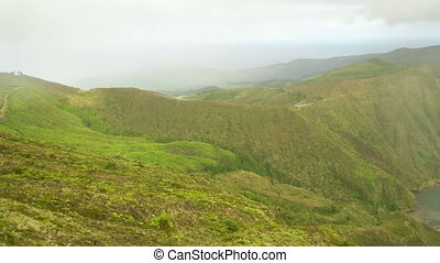 High Up View Over the Azores Island - A look from the peak...