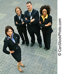Successful Group Of Diversity Business People - group of...