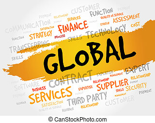 GLOBAL word cloud, business concept
